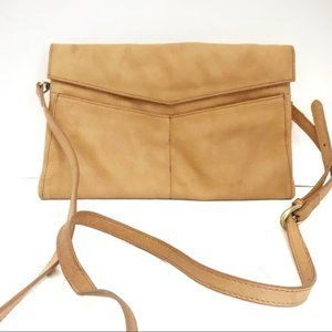 Sorial Camel Colored Leather Envelope Crossbody